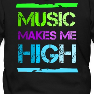 Music makes me high Zip Hoodies/Jackets - Men's Zip Hoodie