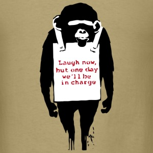 Banksy Laugh Now Monkey T-Shirts - Men's T-Shirt