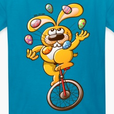 Easter Bunny Juggling Eggs Kids' Shirts