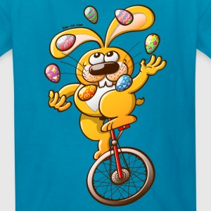 Easter Bunny Juggling Eggs Kids' Shirts - Kids' T-Shirt