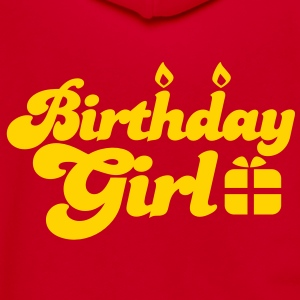 birthday girl new with present Zip Hoodies/Jackets - Unisex Fleece Zip Hoodie by American Apparel