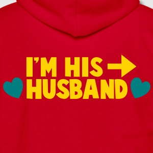 I'm his HUSBAND right arrow Zip Hoodies/Jackets - Unisex Fleece Zip Hoodie by American Apparel
