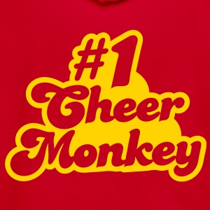 #1 cheer monkey number one Zip Hoodies/Jackets - Unisex Fleece Zip Hoodie by American Apparel