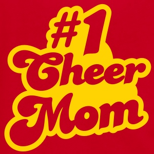 #1 cheer mom number one Zip Hoodies/Jackets - Unisex Fleece Zip Hoodie by American Apparel