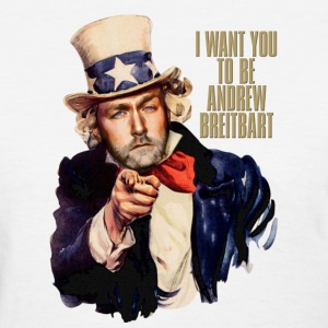 I want you to be Andrew Breitbart - shirt, white - Women's T-Shirt