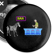 Design ~ Zebra Humor Bar pin