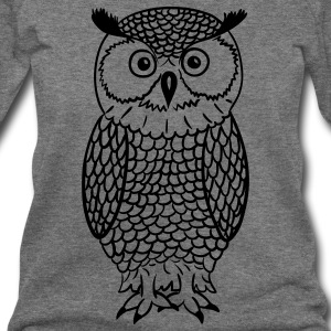 Owl Long Sleeve Shirts - Women's Wideneck Sweatshirt