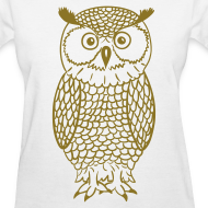 Design ~ Owl - Metallic Gold
