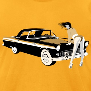 Sexy girl & hot car (dd print) T-Shirts - Men's T-Shirt by American Apparel