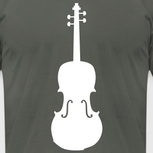 violin T-Shirts - Men's T-Shirt by American Apparel