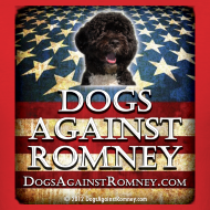 Design ~ Official Dogs Against Romney Portuguese Water Dog Tee