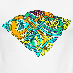 Celtic Illumination – Dog Knots - Men's Ringer T-Shirt