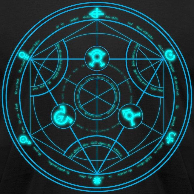 Bltz Designs Human Transmutation Circle And Formula Glow