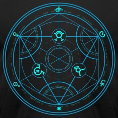 Human Transmutation Circle and Formula - No Glow - Reverse