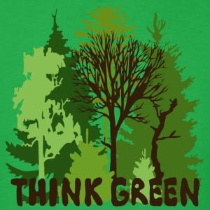 EARTHDAYCONTEST Earth Day Think Green forest trees wilderness mother nature T-Shirts - Men's T-Shirt