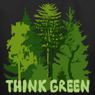 Design ~ eco bag t-shirt Earth Day Think Green forest trees wilderness mother nature