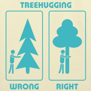 eco bag treehugging treehugger tree hug love earth day EARTHDAYCONTEST - Eco-Friendly Cotton Tote