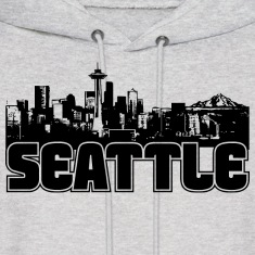 Seattle Skyline Hooded Sweatshirt
