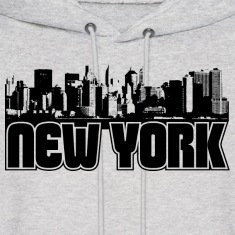 New York Skyline Hooded Sweatshirt