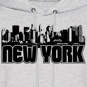 New York Skyline Hooded Sweatshirt - Men's Hoodie