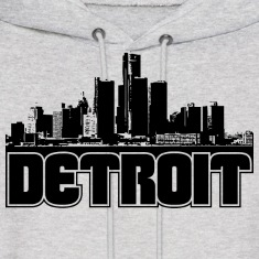 Detroit Skyline Hooded Sweatshirt
