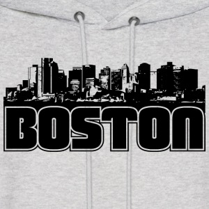 Boston Skyline Hooded Sweatshirt - Men's Hoodie