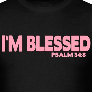I'M BLESSED PSALM 34:8 T-Shirts - Men's T-Shirt