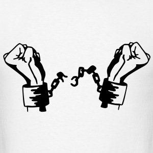 Freedom / Slavery Vector T-Shirts - Men's T-Shirt