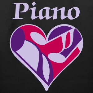 Piano Music Heart - Eco-Friendly Cotton Tote