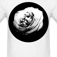 Design ~ Mens Black and White Rose Circle Street Style Fashion T-Shirt