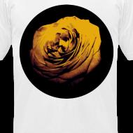 Design ~ Mens Yellow Rose Circle Street Style Fashion T-Shirt