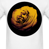 Design ~ Mens Yellow Rose Circle Street Style Fashion T-Shirt