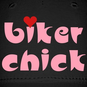 Biker Chick Small Heart Caps - Baseball Cap