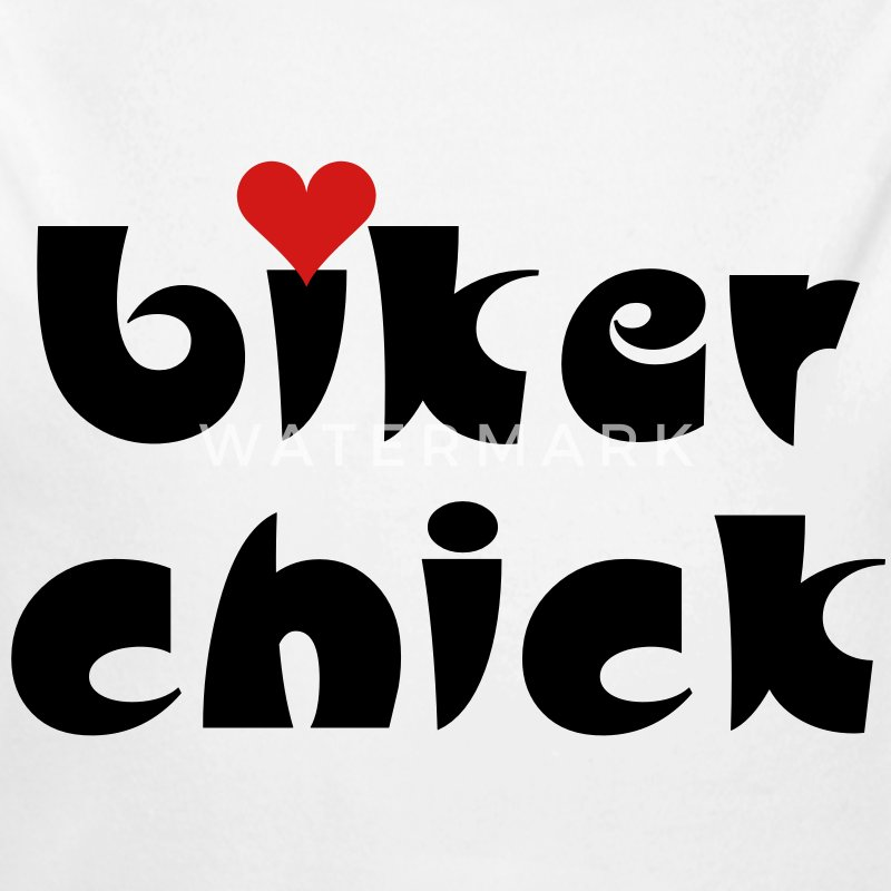 Biker Chick Small Heart Baby Bodysuits - Long Sleeve Baby Bodysuit