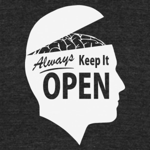 Always Keep It OPEN - Unisex Tri-Blend T-Shirt by American Apparel