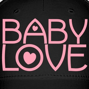 baby love cute font with love hearts lovely! Caps - Baseball Cap