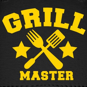 grill master BBQ barbecue design with fork and patty scraper Caps - Baseball Cap