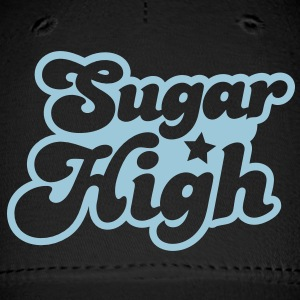 sugar high blue in a funky font Caps - Baseball Cap
