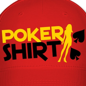 Poker shirt with a sexy lady  Caps - Baseball Cap