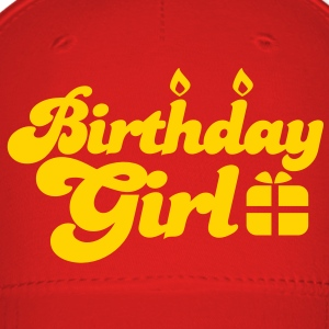 birthday girl new with present Caps - Baseball Cap
