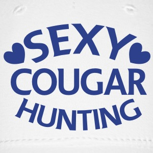 sexy cougar hunting hunter with little love hearts Caps - Baseball Cap