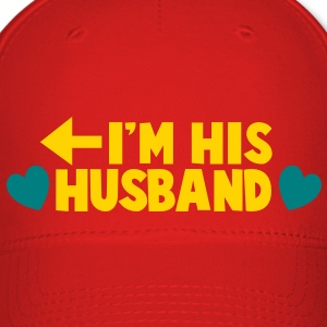 I'm HIS HUSBAND left arrow Caps - Baseball Cap