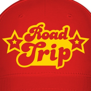 funky cool road trip design with stars Caps - Baseball Cap