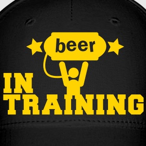 beer in training with lifting man and stars Caps - Baseball Cap