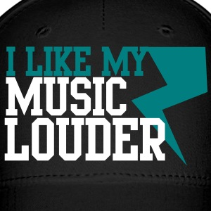 I LIKE MY MUSIC LOUDER! with lightning bolt! Caps - Baseball Cap