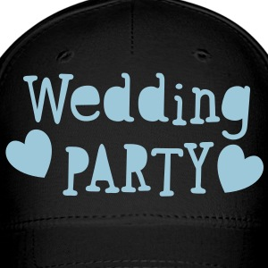 wedding party new vintage funky font Caps - Baseball Cap