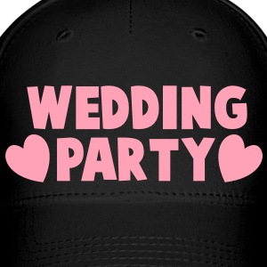 wedding party new cartoonist with love hearts Caps - Baseball Cap
