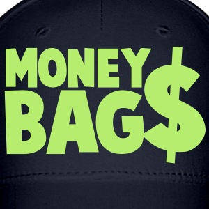 money bags $$$ dollars coin Caps - Baseball Cap
