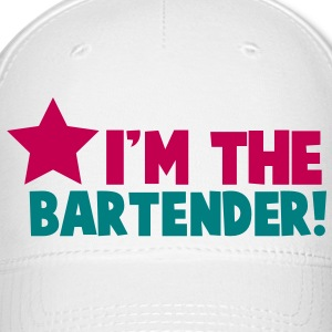 I'm the BARTENDER with a star Caps - Baseball Cap