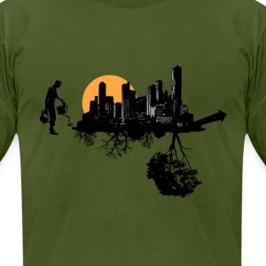 Green Growth - Men's T-Shirt by American Apparel